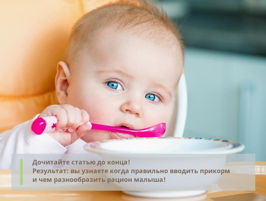 Рацион ребёнка - правила прикорма