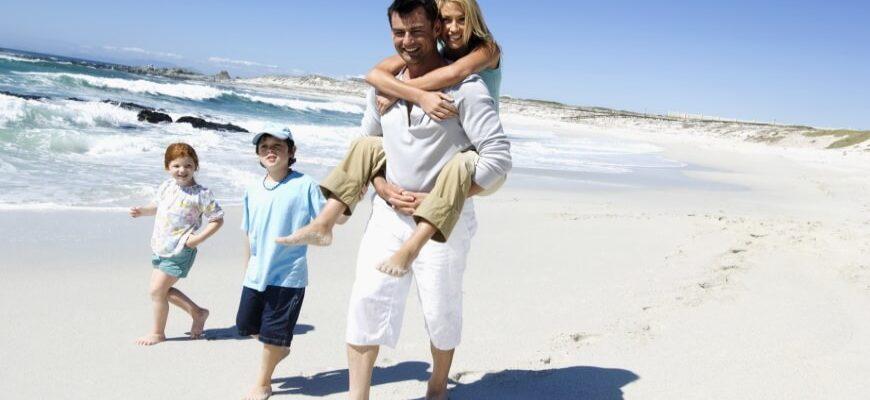 семья отдых на море