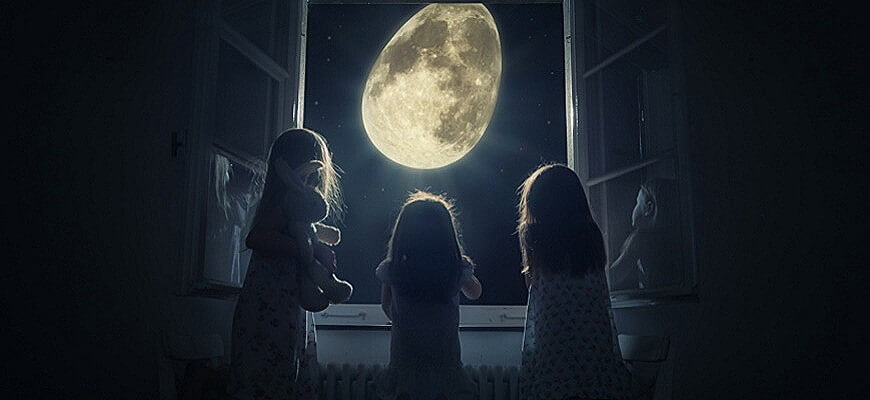 дети и луна