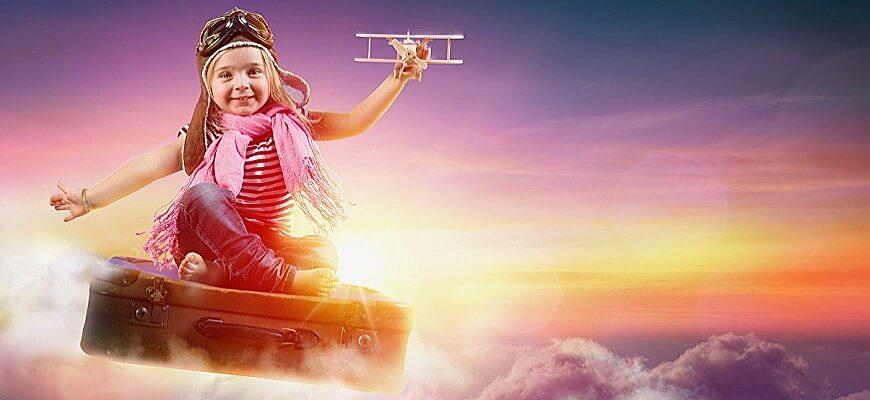 девочка и самолет