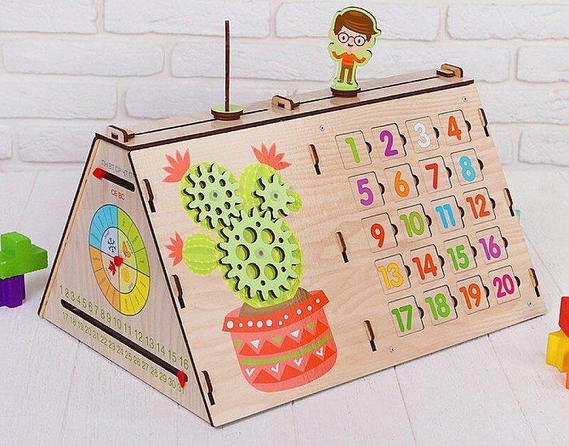"""развивающие игры - обучающая деревянная доска """"Бизиборд. Обучай-ка"""""""