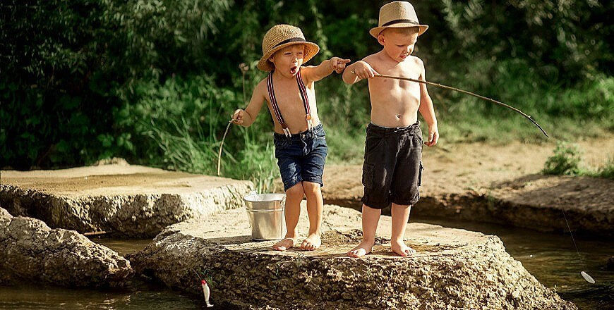 дети рыбалка