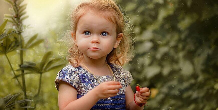 девочка природа лето