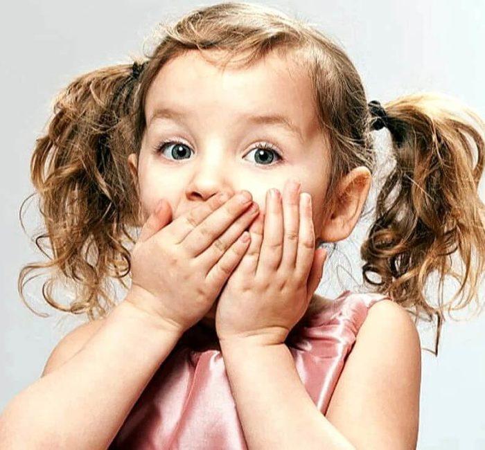 девочка удивлена